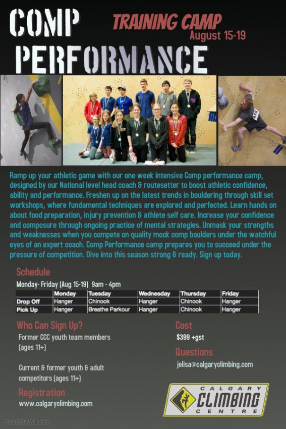 Comp Performance Training Camp Poster